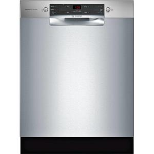 """Bosch 300 Series 24"""" 46 dBA 14 Place Setting Dishwasher SGE53X55UC Perfect front"""