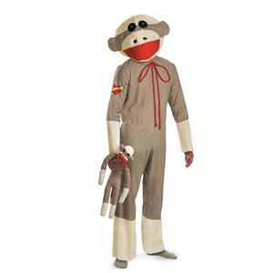 Sock Monkey Adult Costume X-Large