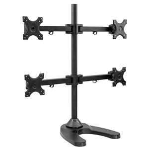 Mount-It! MI-784 Quad Monitor Stand Desk Mount for LCD, OLED, 4K Monitors - NOB
