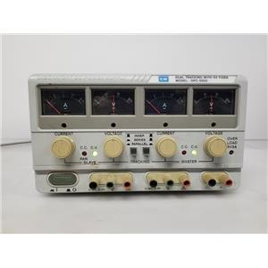 GW Instek GPC-3020 Dual Tracking Power Supply 5V Fixed