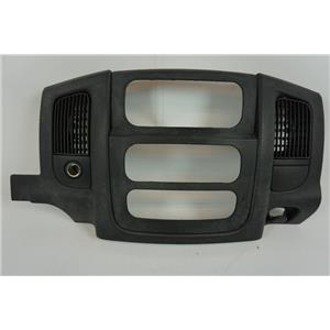 2002-2005 Dodge Ram 1500 2500 Radio Climate Dash Trim Bezel with Vents and 12V