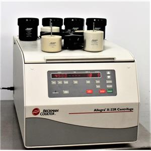 Beckman Coulter Allegra X-22R Refrigerated Centrifuge w/ SX4250 Rotor & Buckets