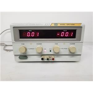 GW Instek GPR-7550D DC Power Supply