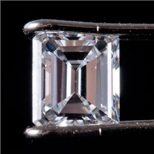 Natural Emerald Cut F Color VS1 Clarity Loose Diamond .45ct