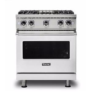 "Viking Professional 5 Series 30"" 4 Burners Freestanding Gas Range VGR5304BSS S.S"