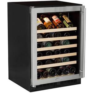 "Marvel 24"" 45-Bottle Capacity Built-In Single Zone Wine Refrigerator ML24WSG0LS"