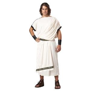 Plus Men's Deluxe Classic Roman Toga Costume