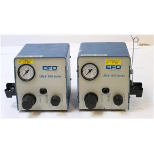 Pair of 2 EFD ULTRA 870 Glue, Grease, Epoxy, Solder, Silicone Fluid Dispensers