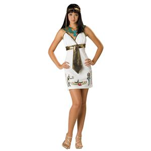 Cleopatra Egyptian Cleo Cutie Teen Costume Queen Nile Size Large