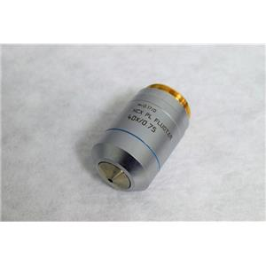 Leica HCX PL FLUOTAR 40X/0.75 ∞/0.17/D Microscope Objective Part Number 506144