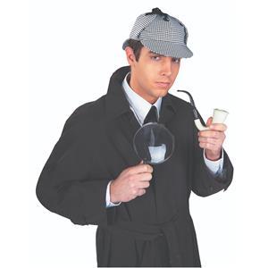 Detective Costume Kit Sherlock Holmes Houndstooth Hat