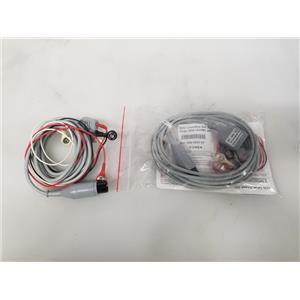 Welch Allyn ECG / EKG Lead Wire Set 3 Lead 008-0323-00 - Set of 2