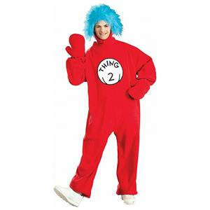 Thing 2 Fleece Dr Seuss Adult Costume