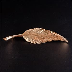 Tiffany & Co 14k Yellow Gold Leaf Pin / Brooch 3.9g