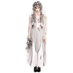 White Dead Ghost Bride Costume Size Large