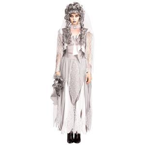 White Dead Ghost Bride Costume Standard Size