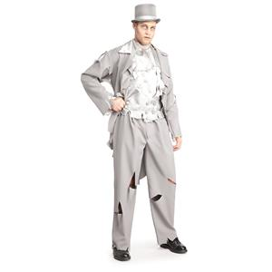 Dead Groom White Gray Ghost Costume Standard