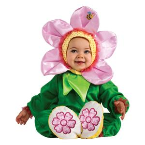 Cuddly Jungle Flower Pink Pansy Romper Costume 12-18 Months