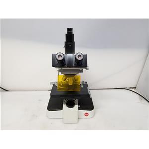 Leitz Wetzlar Trinocular Orthoplan Microscope w/ 5 Objectives (NO LIGHT SOURCE)