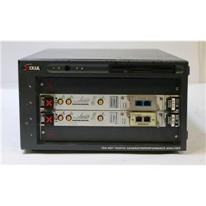 IXIA 400T Traffic Generator / Analyzer with 2x LSM10G1-01 10GE Load Modules