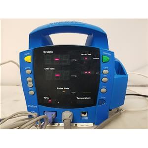 GE Dinamap ProCare DPC400N Patient Monitor w/ SpO2 Cable & NIBP Air Hose