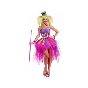 Forum Circus Sweeties Tutu Lulu The Clown Costume One Size