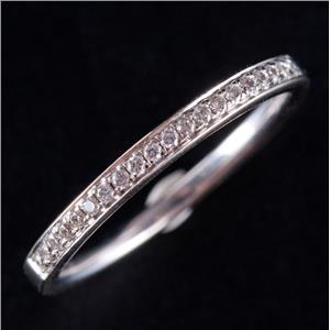 14k White Gold Round Cut Diamond Wedding Anniversary Band / Ring .20ctw