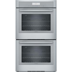 Thermador Masterpiece Series 30 in  Hydraulic SoftClose Double Wall Oven ME302WS