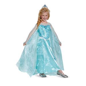 Frozen Elsa Prestige Child Dress Costume Medium 7-8