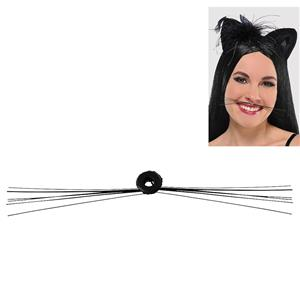 Black Cat Whiskers Costume Accessory