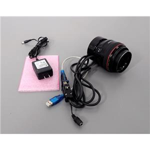 Canon Lens EF 50mm 1:1.2L USM Ultrasonic w/Birger EF Lens Controller Warranty