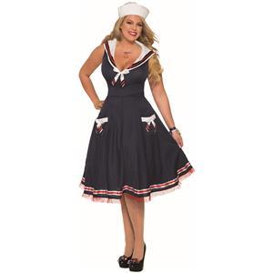 Sexy Ahoy Lady Navy Blue Women's Sailor Halloween Costume