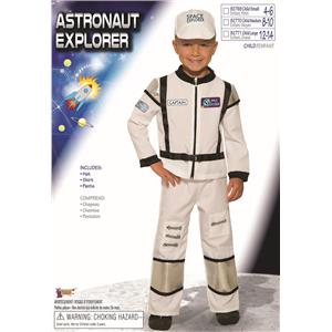 Astronaut Explorer Child White Space Jumpsuit Costume Medium 8-10