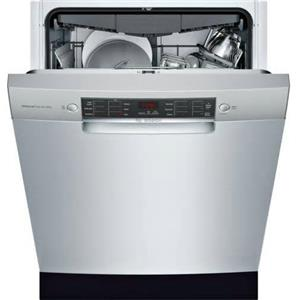 """Bosch 800 Series 24"""" 44 dBA 15 Setting Full Console Dishwasher SGE68X55UC Images"""