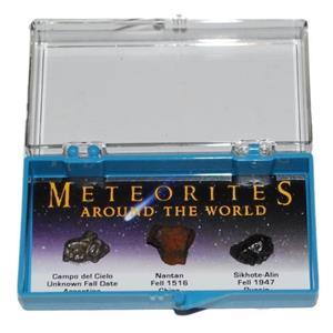 METEORITES AROUND THE WORLD Display Nantan, Campo, Sikhote-Alin #10174 4o