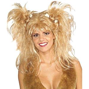 Blonde Cavewoman Messy Bone Wig