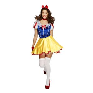 Smiffy's Fever Women's Fairytale Snow White Sexy Adult Costume Size Large 14-16
