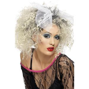80's Wild Child Wig with Bow Madonna Inspired