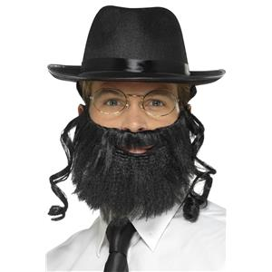 Smiffy Jewish Rabbi Costume Kit Accessory Kit Hat Beard Glasses