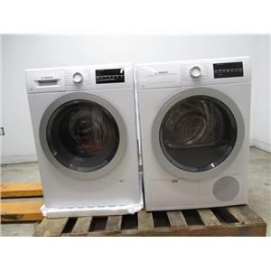 Bosch 500 Series Front Load White Washer / Dryer WAT28401UC / WTG86401UC