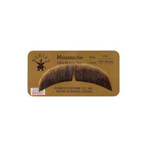 Medium Brown 100% Human Hair Hippie Bandit 70s Basic Character Mustache 2015