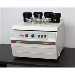 Beckman Coulter Allegra 6 Lab Benchtop Centrifuge GH-3.8 Rotor & Buckets 366802