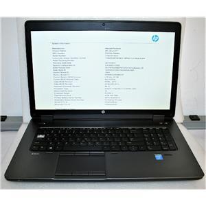 "HP ZBook 17.3"" Core i7 4700QM 2.4GHz 8GB 500GB nVidia K610M Laptop Workstation"