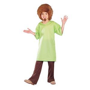 Scooby Doo: Shaggy Child's Costume Wig Goatee Shirt Size Large 12-14