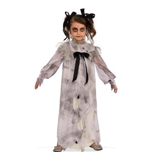 Sweet Screams Girls Creepy Nightgown Dirt Spiders Child Costume Dress M 8-10