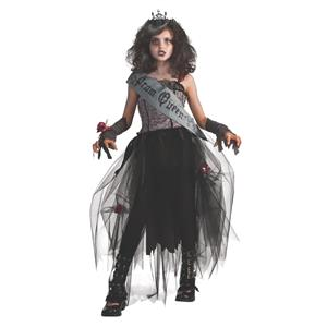Gothic Prom Queen Child Girls Costume Size Small