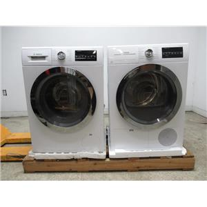 Bosch 800 Series WHT Energy Star Chrome Washer / Dryer WAT28402UC / WTG86402UC