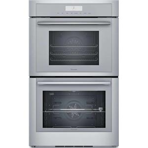 """Thermador 30"""" SS Sabbath Mode Wi-Fi SoftClose Door Double Steam Oven MEDS302WS"""