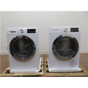 Bosch 800 Series Washer & Dryer Set WAT28402UC & WTG86402UC White Excellent