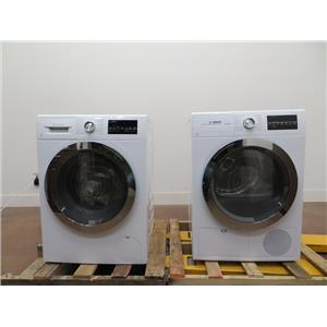 Bosch 800 Series Washer & Dryer Set WAT28402UC & WTG86402UC White